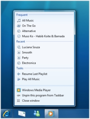Windows Media Player JumpList.jpg